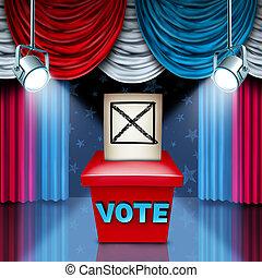 American Ballot Box - American Ballot box election concept...
