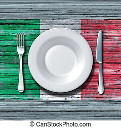Italian Cuisine - Italian cuisine food concept as a place...