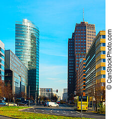 Potsdamer platz, Berlin - View of Potsdamer platz - busines...