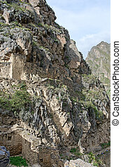 Ollantaytambo - old Inca fortress in the Sacred Valley in...