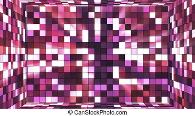 Broadcast Twinkling Hi-Tech Squares Room, Pink, Abstract,...