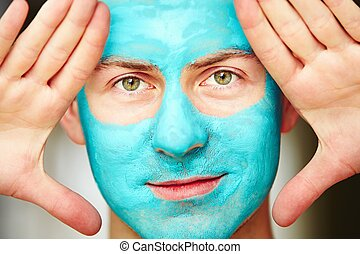 Face and body skin care treatment - Portrait of young...