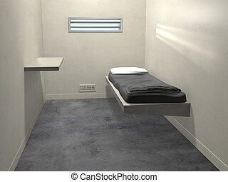 Modern Prison Cell - Original illustration of a modern...