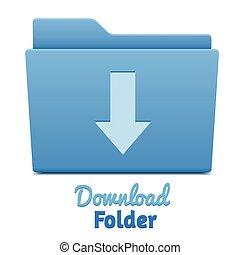 Blue download folder