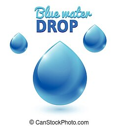 vector blue water drops
