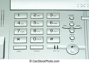 phone keypad - grey phone keypad close up