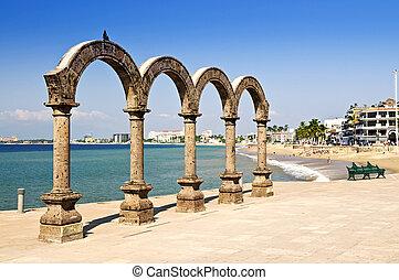 Los, Arcos, amphithéâtre, puerto, Vallarta,...