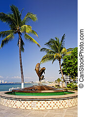 Friendship fountain in Puerto Vallarta, Mexico - Friendship...