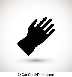 Protective glove icon isolated on grey. Vector illustration