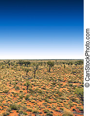 blue sky - A photography of the australia outback with a...