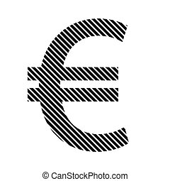 Euro sign on white. - Euro sign on white background. Vector...