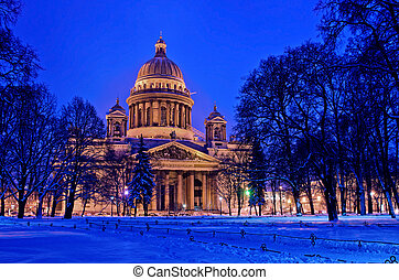 St Isaac Cathedral in Saint Petersburg, Russia Winter