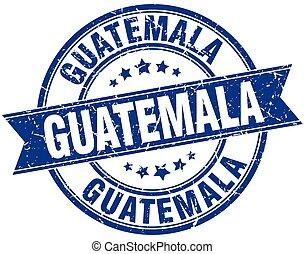 Guatemala blue round grunge vintage ribbon stamp