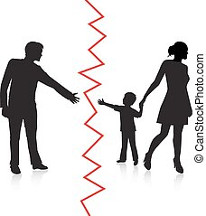 separation of father and baby - silhouette of a man reaching...