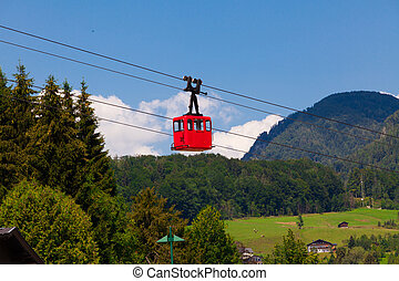 Old cable cabin - Old style small cable cabin in Austria...
