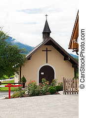 Small Rural Church in the Austrian Alps