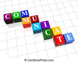 communicate in colour 2 - 3d colour boxes with text -...