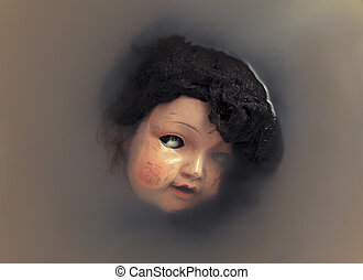 Creepy doll face
