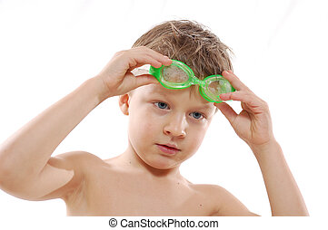kid with goggle