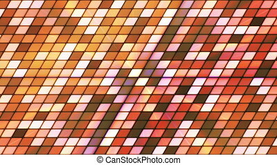 Broadcast Twinkling Slant Hi-Tech Cubes, Brown, Abstract,...