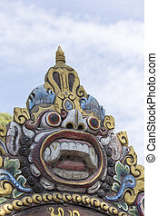 Barong the benevolent beast that scares bad spirits away...