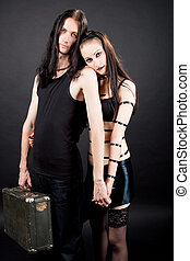 sensuality of gothic couple - gothic emo couple together...