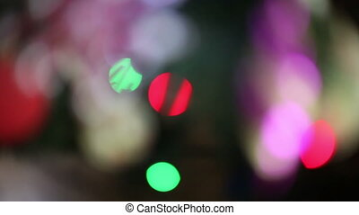 holiday bokeh background of lights