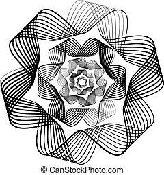 wave illustration BRUSHES BLACK AND WHITE