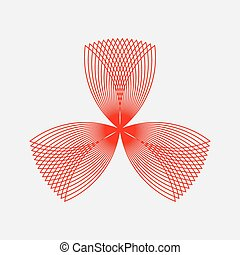 Red Abstract Fractal Shape - Red abstract fractal shape with...
