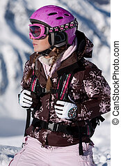 Girl wearing sport gear - Young girl wearing sport gear on...