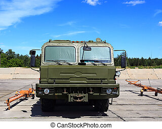 Military special purpose towing vehicle - Airfield wheeled...