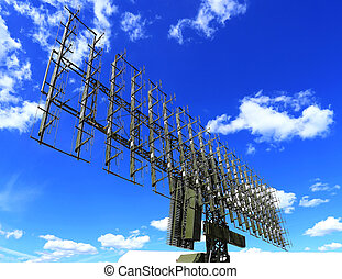 Radar antennas - All around antenna on a mobile rotating...