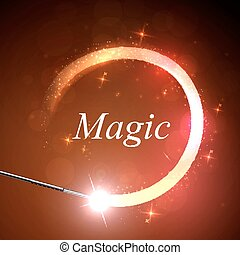 background magical glow - Vector background magic Glov, the...