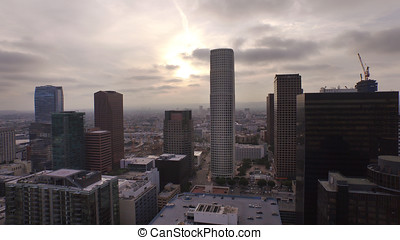 Gotham City Los Angeles - An eerily Gotham City-esque aerial...