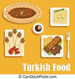 Turkish cuisine with kebab and shawarma - Authentic turkish...