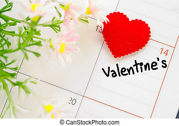 February 14 of Saint Valentines day.