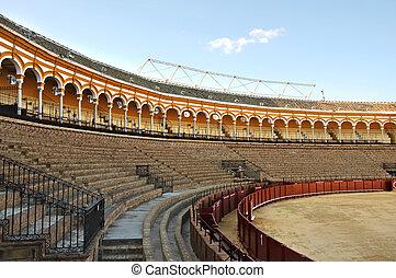 Seville bullring - View of Real Maestranza de Caballeria de...