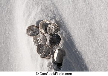 Cold hard cash - Mexican Silver Coins uncovered by the wind...