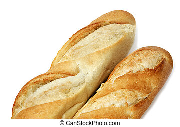 bread - isolated cuban bread on a white background