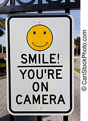 Smile You Are On Camera Security Sign - A Smile You Are On...