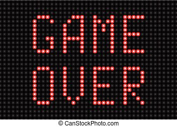 Game Over Message - Illustration of Game Over Message