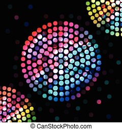 Color circle on a black background - Illustration of Color...