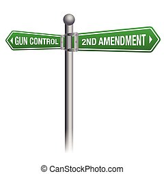 Gun Control and Rights Theme - Gun control versus the second...