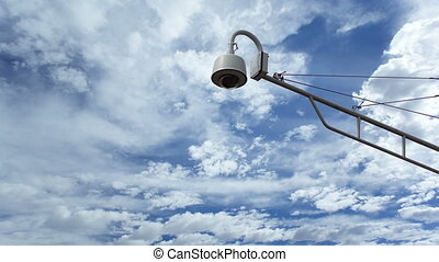 Surveillance Camera Against Timelapse - A big brother...