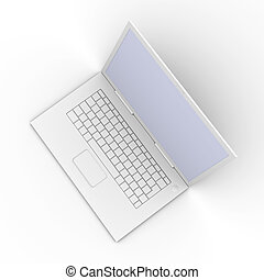 Laptop - 3D Illustration. Isolated on white.