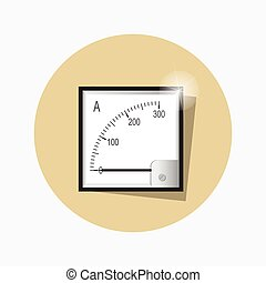 Ampermeter flat icon. Vector.