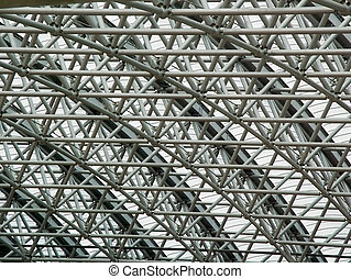 Background - a trellised roof - Lattice roofs from metal...