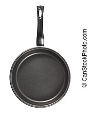 Pan with teflon cover . Isolated on white background