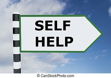 Self Help concept - Render illustration of Self Help title...