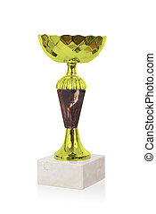 Trophy cup isolated